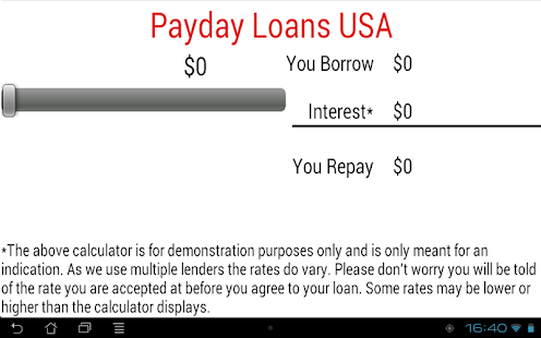 Payday Loans USA Cash Advance- screenshot thumbnail