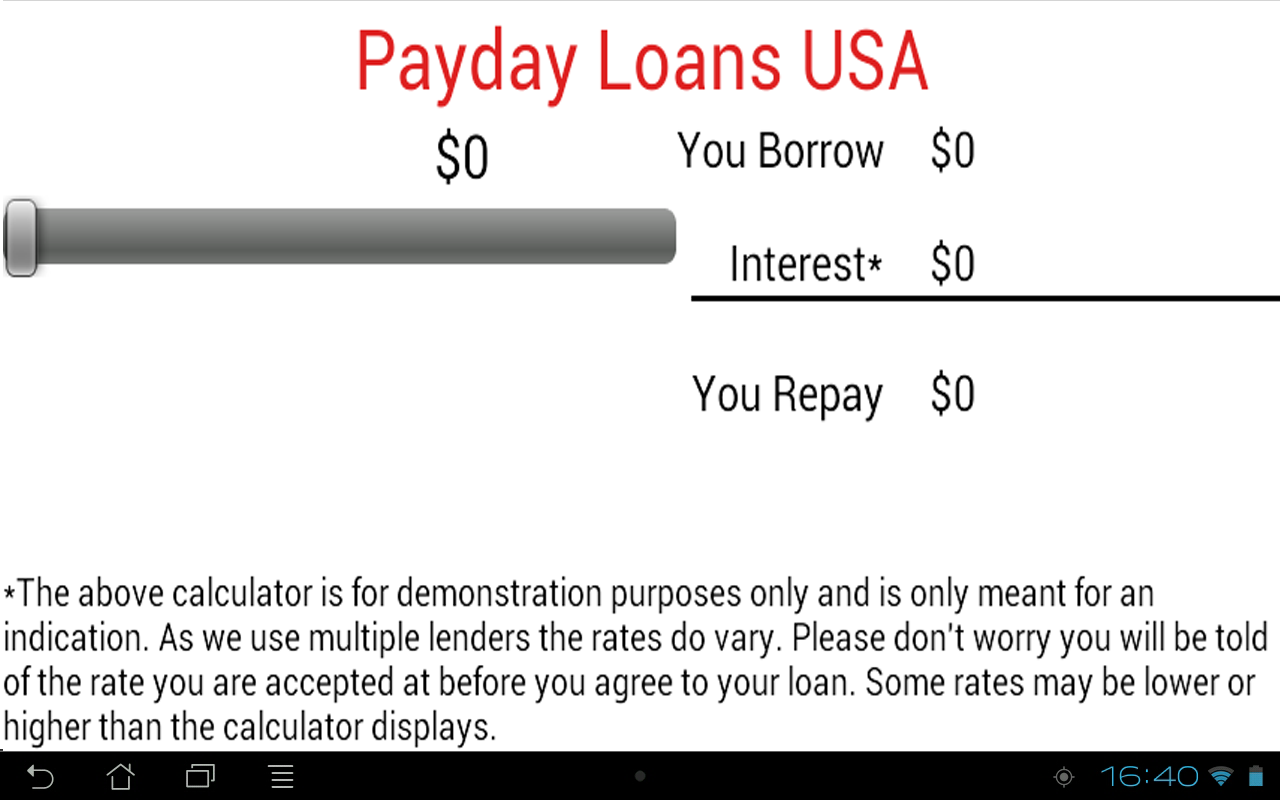 Payday Loans USA Cash Advance - screenshot