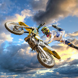 King of the Sky by Daniel Craig Johnson - Sports & Fitness Motorsports ( motorbike, motocross, biker, dirt road, action, motorcycle, africa, motorsport,  )