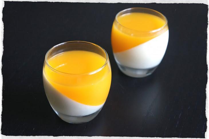 White Chocolate Panna Cotta with Mango Coulis Recipe