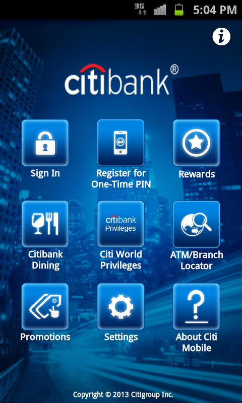 Citibank Australia - screenshot