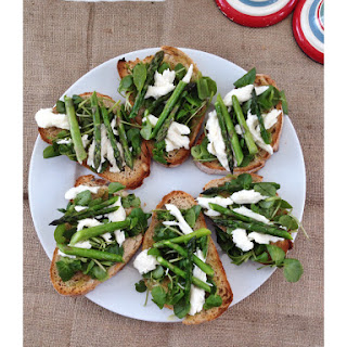 Asparagus & Watercress Bruschetta
