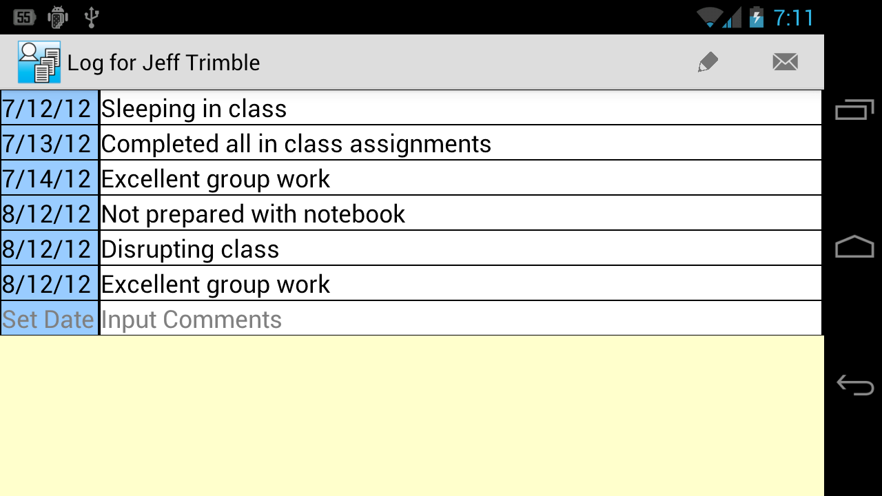 Student Logs Demo (4 Teachers) - screenshot