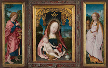 Triptych with Virgin and Child, Saint John the Evangelist (left wing) and Mary Magdalene (right wing)