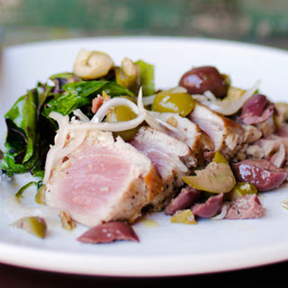 Grilled Tuna with Olive Salad