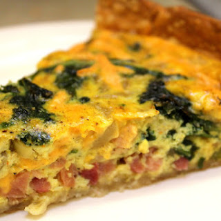 Dairy Free Quiche with Ham and Kale