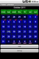 Screenshot of Flower calendar (free)