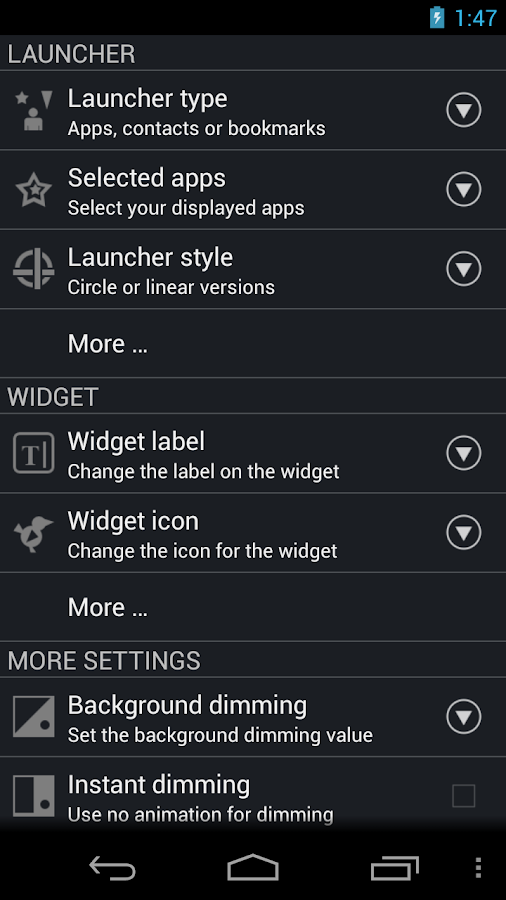 CircleLauncher light - screenshot