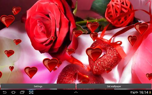 心与玫瑰動態桌布