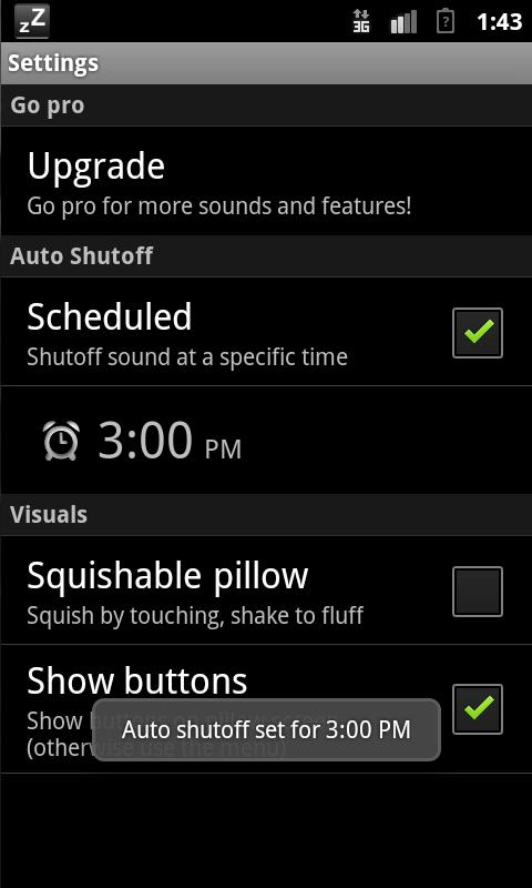 Pillow: White Noise (Lite)- screenshot
