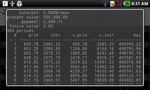 RpnCalc Financial -- HP 12C - screenshot thumbnail