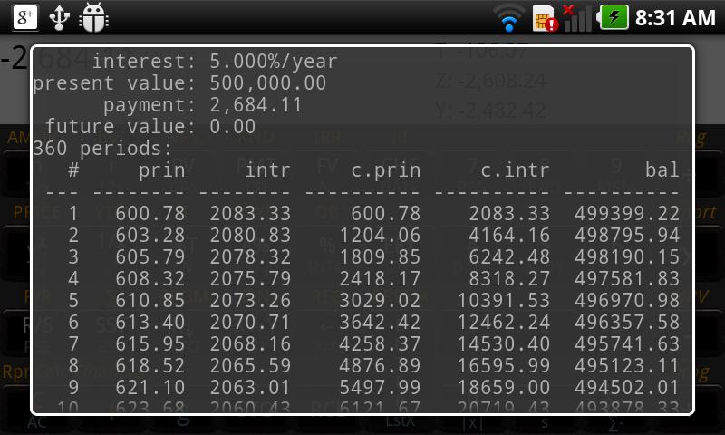RpnCalc Financial -- HP 12C - screenshot