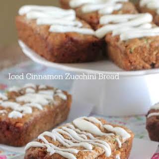 Iced Cinnamon Zucchini Bread.