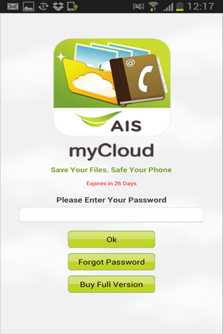 AIS myCloud - screenshot
