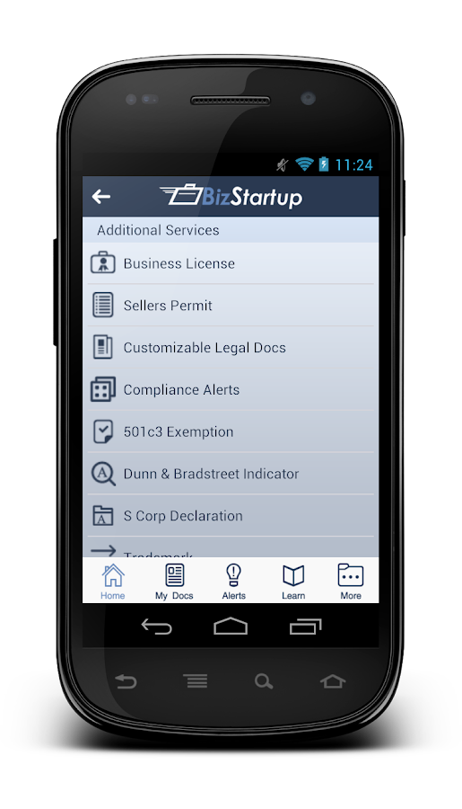 BizStartup- screenshot