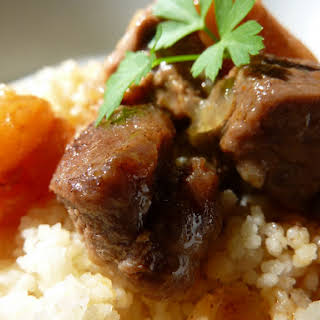 Lamb with Honey and Apricots.