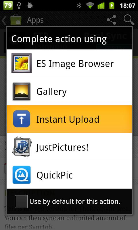 Instant Upload - screenshot
