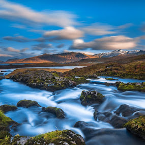 Point of Distance by Daniel Herr - Landscapes Waterscapes ( wilderness, iceland, snæfellsnes, waterfall, landscape, river )
