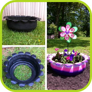 Diy used tires ideas android apps on google play - Garden ideas using tyres ...