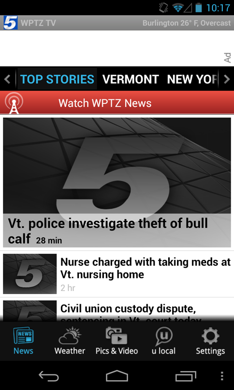 WPTZ 5 TV - news and weather - screenshot