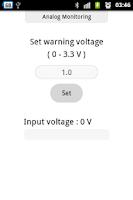 Screenshot of Analog Monitoring