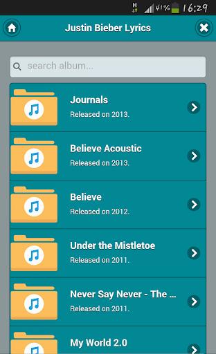 Lyrics of Justin Bieber