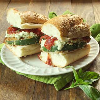 Panko Crusted Zucchini Lasagna Sandwiches.