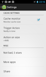 Cache Cleaner +- screenshot thumbnail