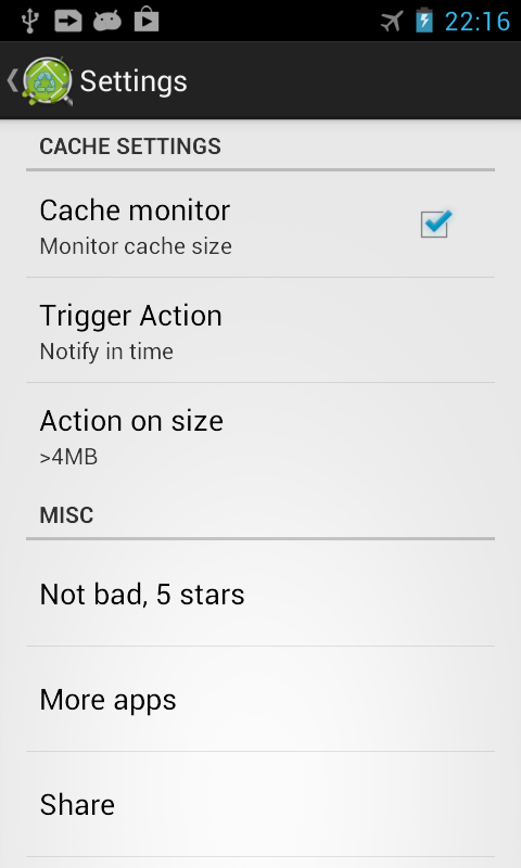 Cache Cleaner +- screenshot
