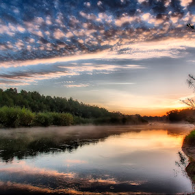 A morning on the Prut by Ionel Covariuc - Landscapes Sunsets & Sunrises ( prut, picture, water, romania, east, landscape )
