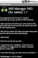Screenshot of WifiManager PRO (for tablet)