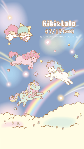 玩個人化App|[キキ&ララ]星空のユニコーンライブ壁紙免費|APP試玩