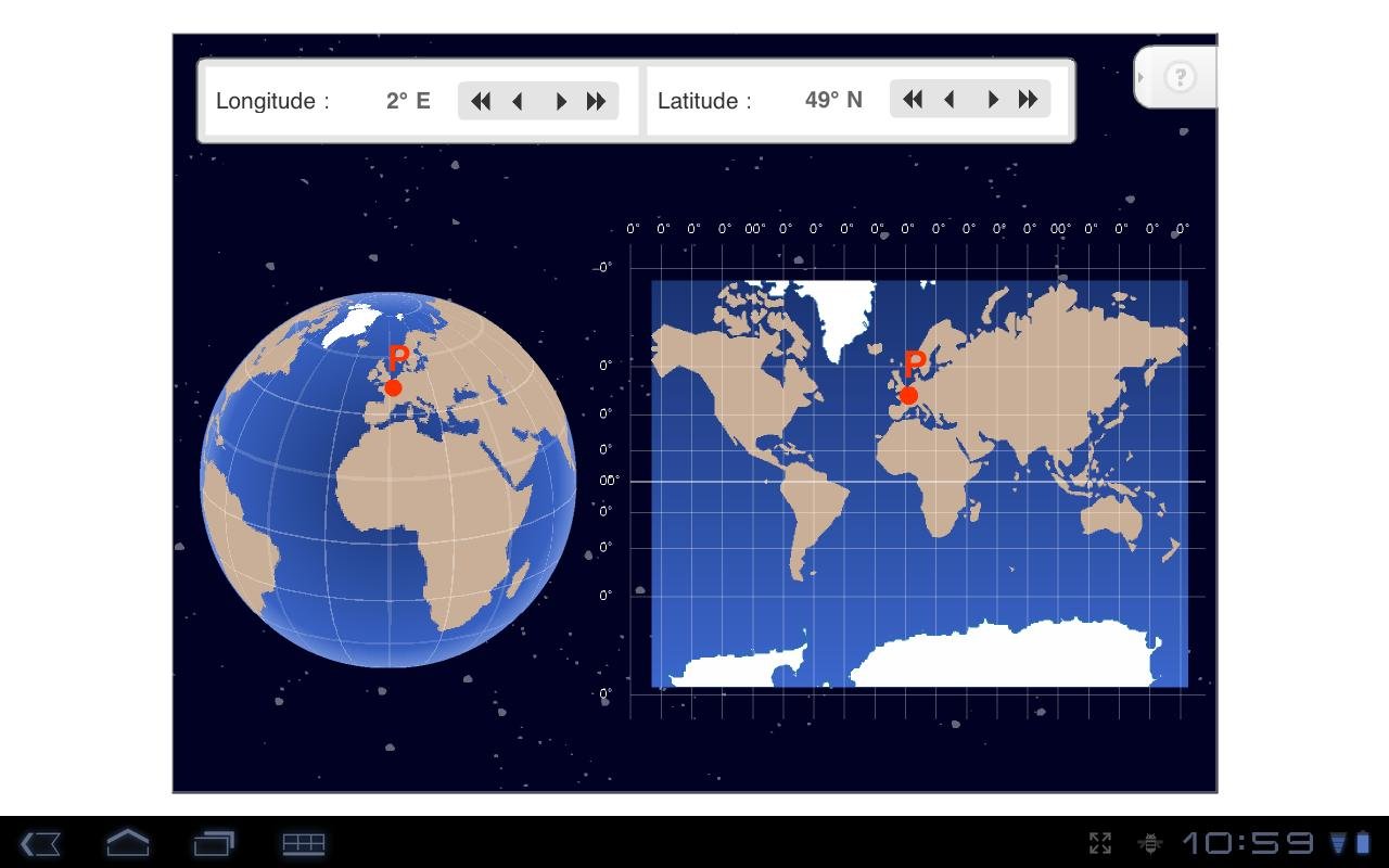 Longitude and Latitude- screenshot