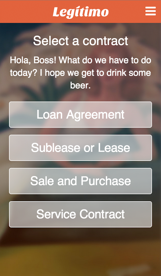 Create Contracts Legitimo- screenshot