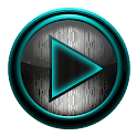 Poweramp skin STEEL TURQUOISE icon