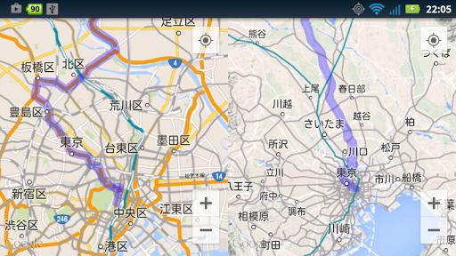 MAPS Dual 【シンプルな2画面地図】