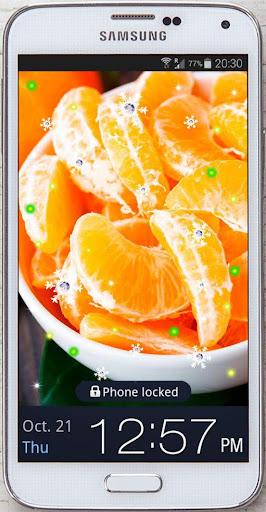 Mandarins Juicy live wallpaper