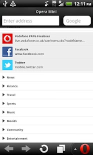 Vodafone Opera Mini Browser - screenshot thumbnail