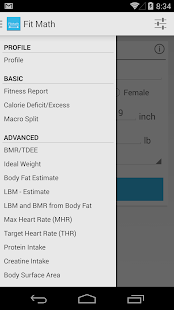 FitMath - BMR TDEE calculator (android)