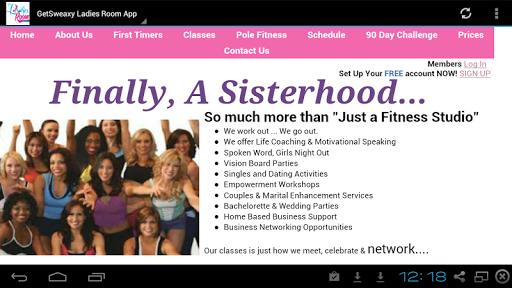 Get Sweaxy Ladies Room App