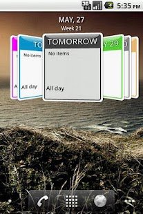 Up Next 3D Calendar Widget- screenshot thumbnail
