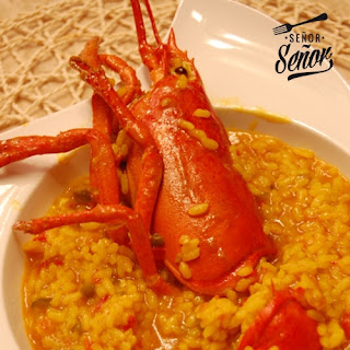 Rice in Broth with Lobster.
