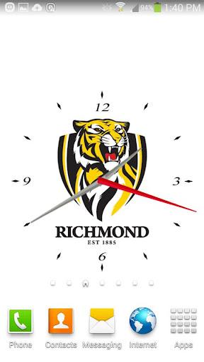 Richmond Tigers Analog Clock