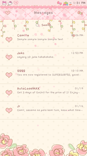 Flowery GO SMS
