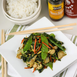 Easy Fried Rice with Asian Vegetables.