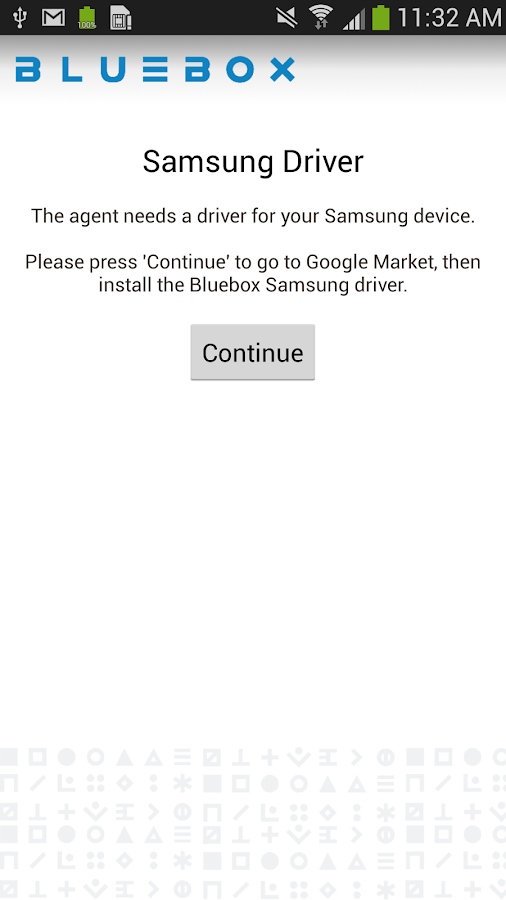 Bluebox Samsung Support - screenshot