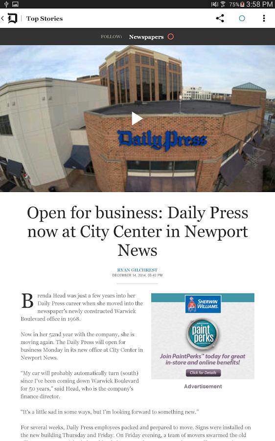 Daily Press - screenshot