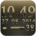 Digi Clock Widget Gold Gear icon