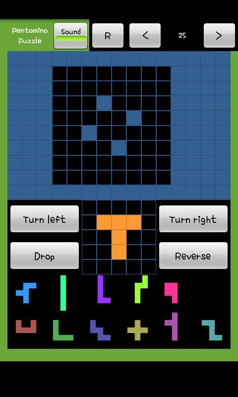 Pentomino Puzzle Game- screenshot