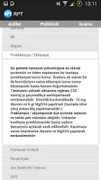 Screenshot of Hazır Reçeteler - RPT